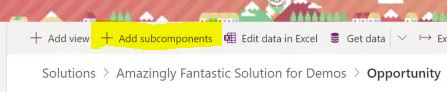 PowerApps: Add Subcomponents