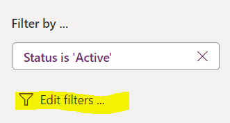 Edit filters in Power Apps system views