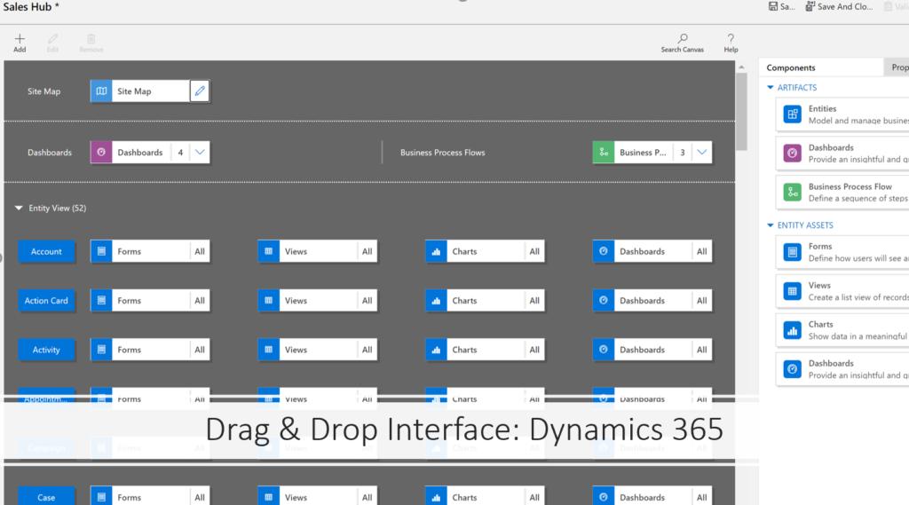 A model driven app in Dynamics 365. No code!