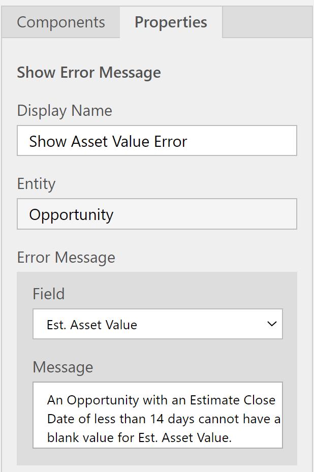 Show Error Message details