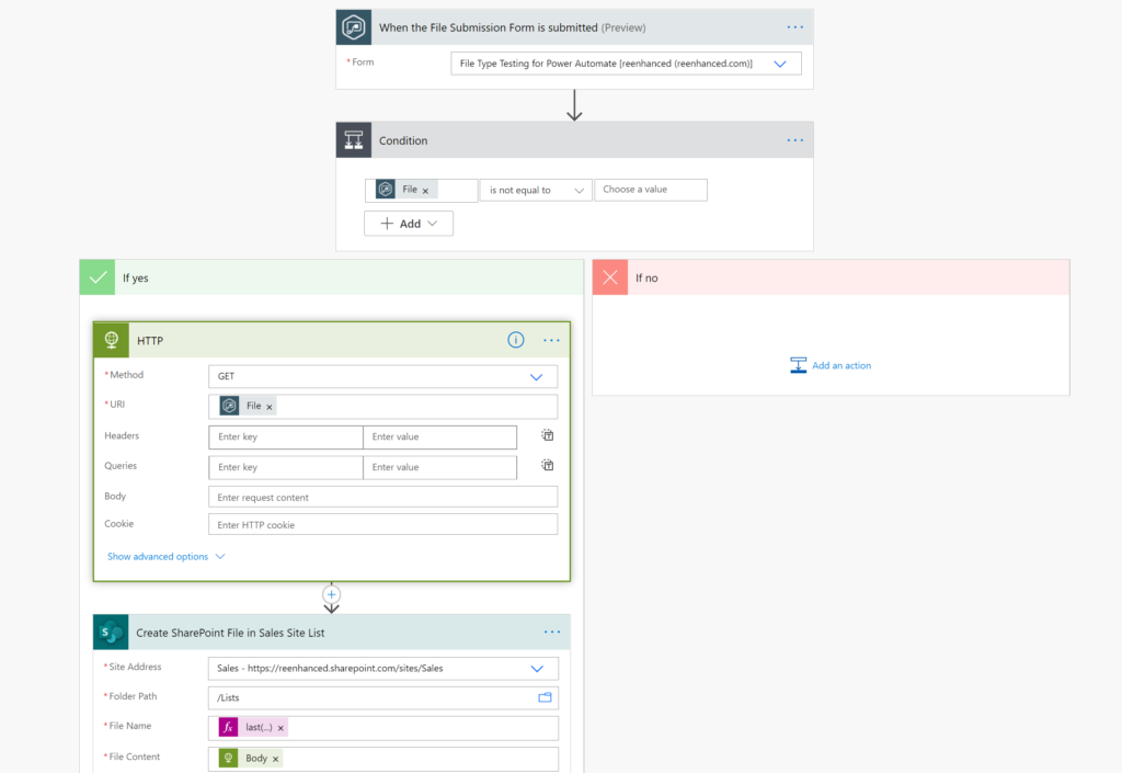 Gravity Forms Power Automate Connector: How to Move Files to SharePoint in a Flow